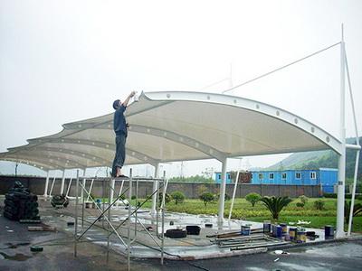 空港新城幸福里膜结构车棚改造项目