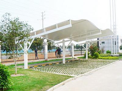 浙江圣加工程管理咨询有限公司行政中心停车场膜结构停车棚