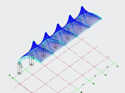 体育看台膜结构CAD设计图纸