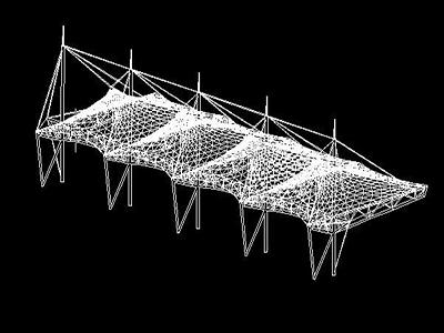 膜结构车棚设计