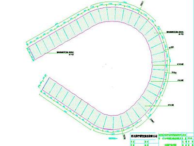 环形膜结构车棚设计CAD图纸