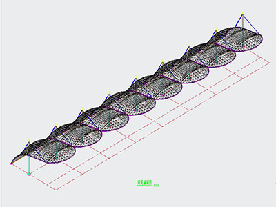 高尔夫球场膜结构设计CAD图纸