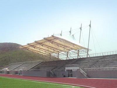 宁夏警官职业学院体育看台膜结构