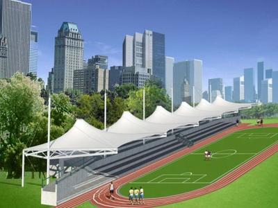 泰州市智堡实验学校体育看台膜结构