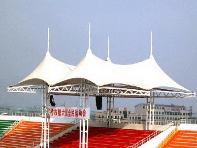 颍上县第二中学体育看台膜结构