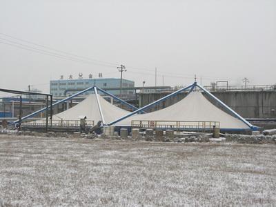 渭河热电厂雨污泵房污水池膜结构