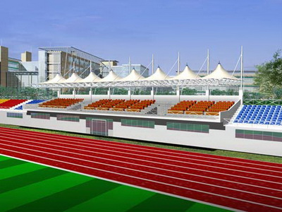 阜平县职业技术教育中心新校区建设项目体育看台膜结构