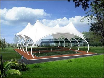 国防科技大学一号院网球场膜结构