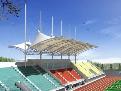 凤庆县第三中学二期工程-体育看台膜结构