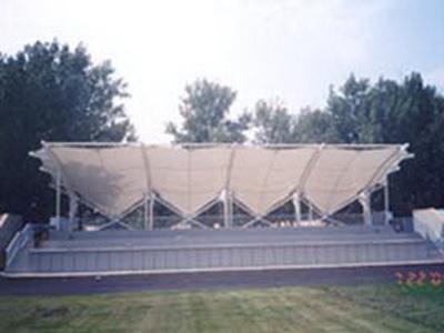 商丘中等专业学校体育看台膜结构
