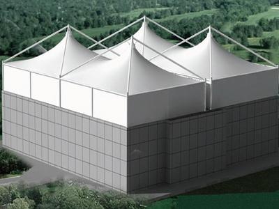 桩西污水站污泥处理系统及污水池膜结构