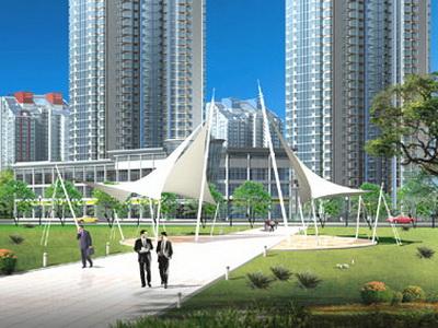 龙泉村美丽乡村景观膜结构