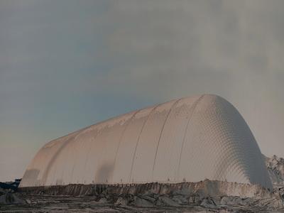 电力煤场充气膜结构煤棚
