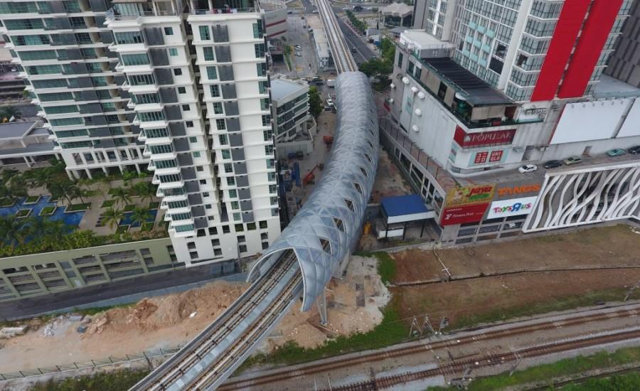 吉隆坡ETFE膜结构轻轨隧道